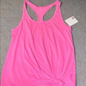SO pink tank top